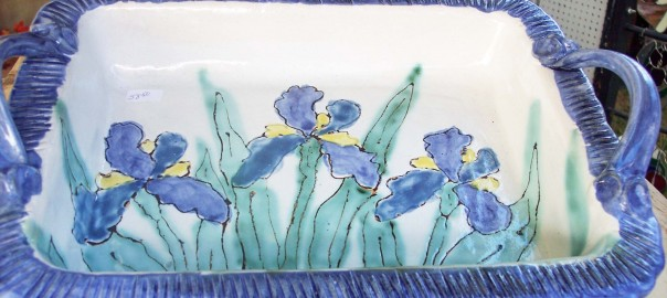 Blue Iris serving tray