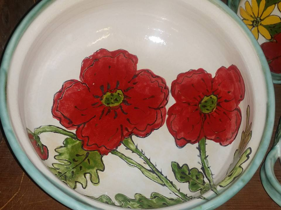 red-flower-bowl-pottery